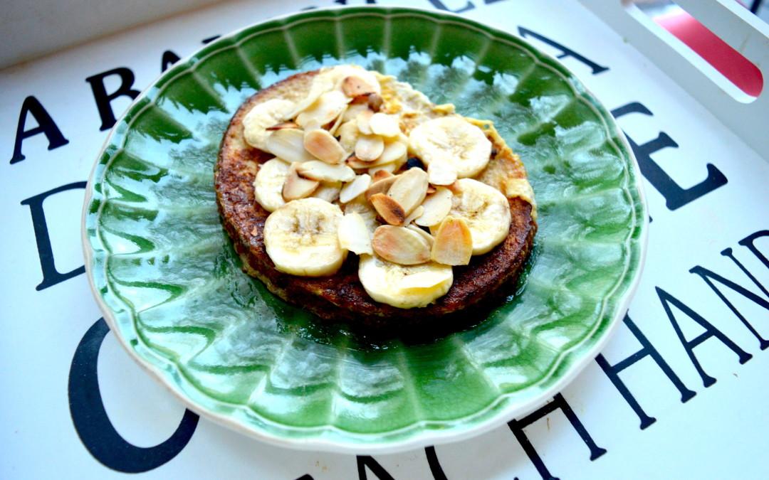 """Banānu – mandeļu """"french toast"""""""